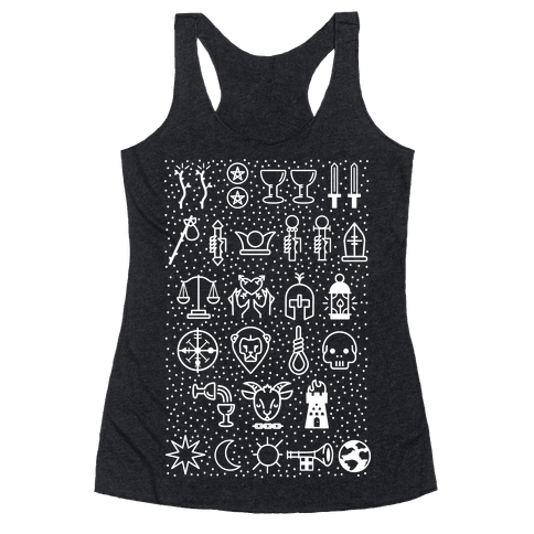 Tarot Card Icons Racerback Tank Top