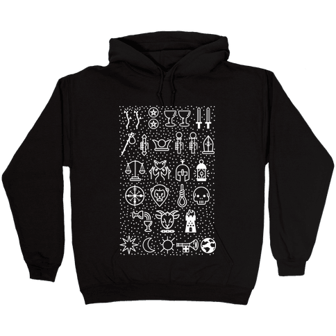 Tarot Card Icons Hooded Sweatshirt
