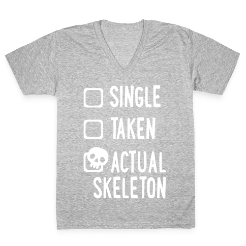 Actual Skeleton V-Neck Tee Shirt