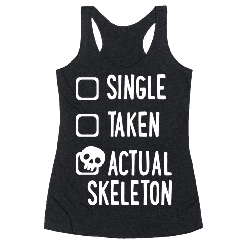 Actual Skeleton Racerback Tank Top