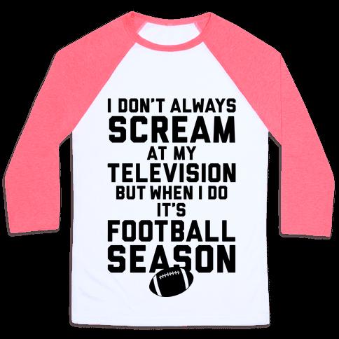 Football Season Baseball Tee