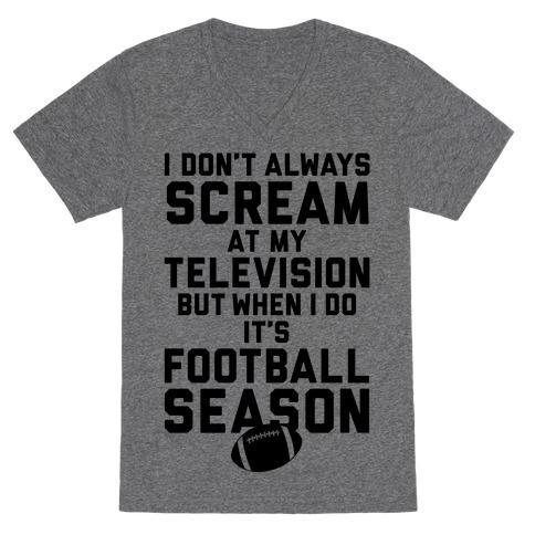 Football Season V-Neck Tee Shirt