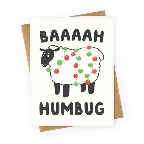 Baaaaah Humbug Greeting Card