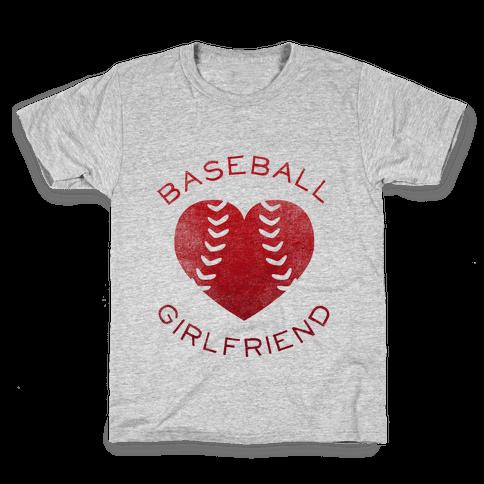 Baseball Girlfriend (Red Tank) Kids T-Shirt