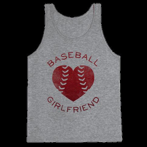 Baseball Girlfriend (Red Tank) Tank Top