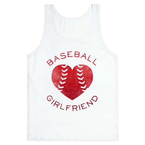 Baseball Girlfriend (Red Tank) Tank Top