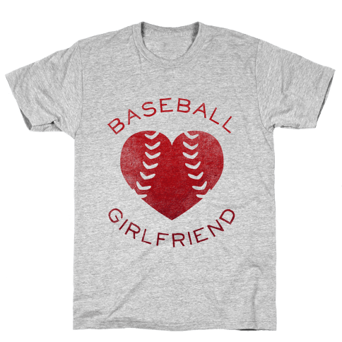 Baseball Girlfriend (Red Tank) Mens T-Shirt