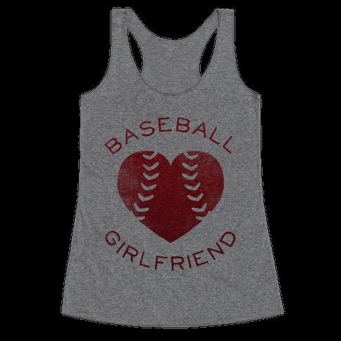 Baseball Girlfriend (Red Tank) Racerback Tank Top