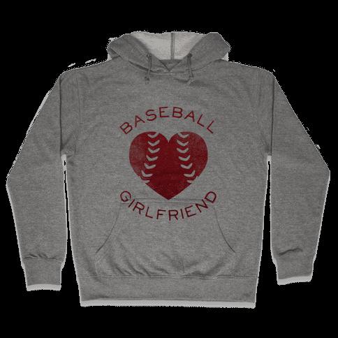 Baseball Girlfriend (Red Tank) Hooded Sweatshirt