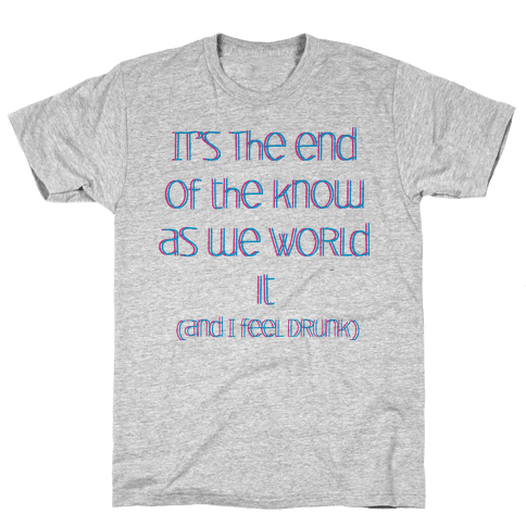 End of the Know (dark) Mens T-Shirt