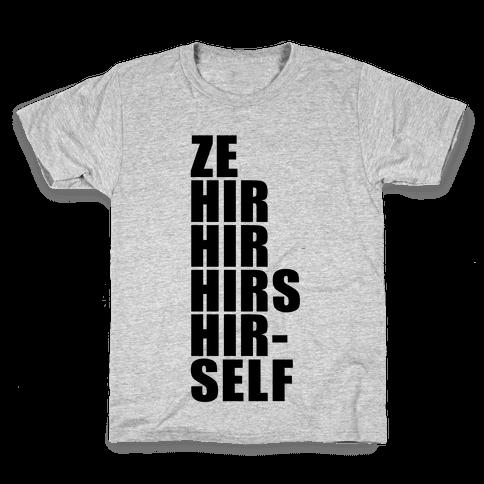 Gender Pronoun Guide Kids T-Shirt