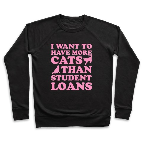 I Want More Cats Than Student Loans Pullover