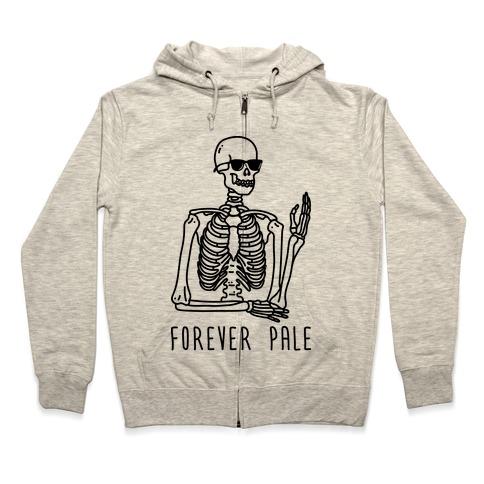 Forever Pale Zip Hoodie