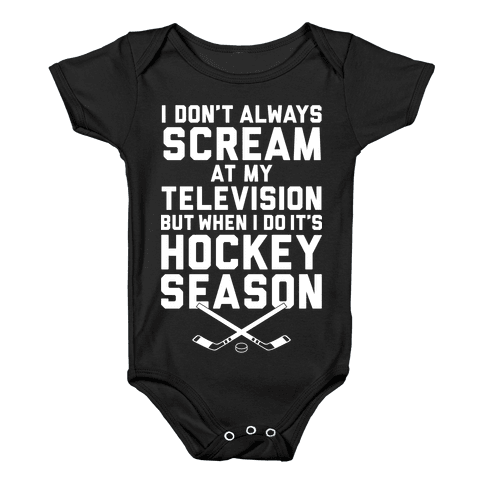 Hockey Season Baby Onesy