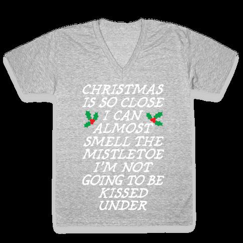 Christmas Is Close V-Neck Tee Shirt