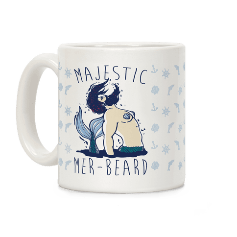 Majestic Mer-Beard Coffee Mug