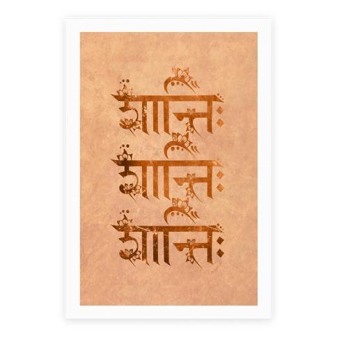 Shanti Shanti Shanti Poster