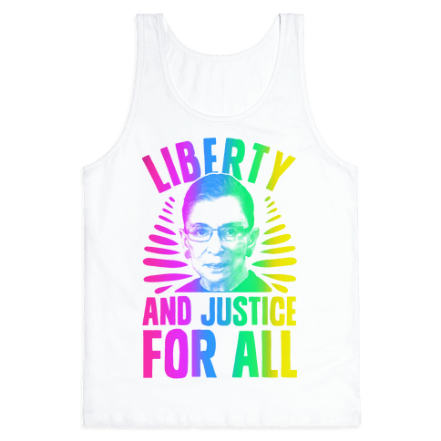 RBG Liberty and Justice for All Tank Top
