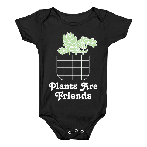 Plants are Friends Baby Onesy