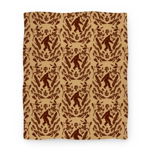 Sasquatch Sighting Pattern Blanket