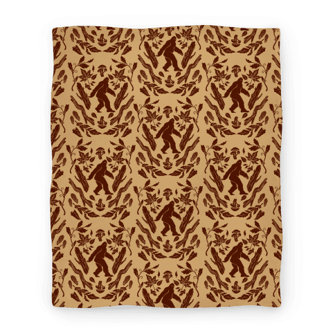 Sasquatch Sighting Pattern Blanket