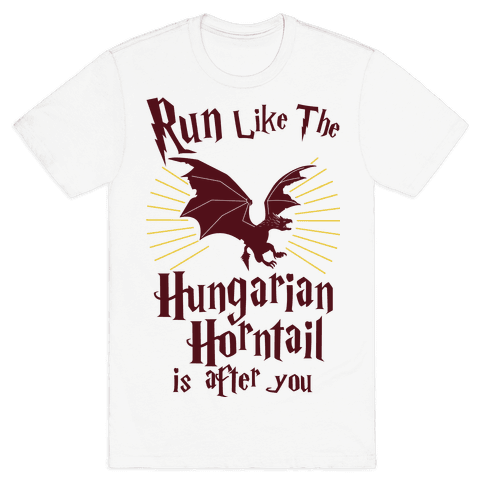 Run Like The Hungarian Horntail Is After You Mens T-Shirt