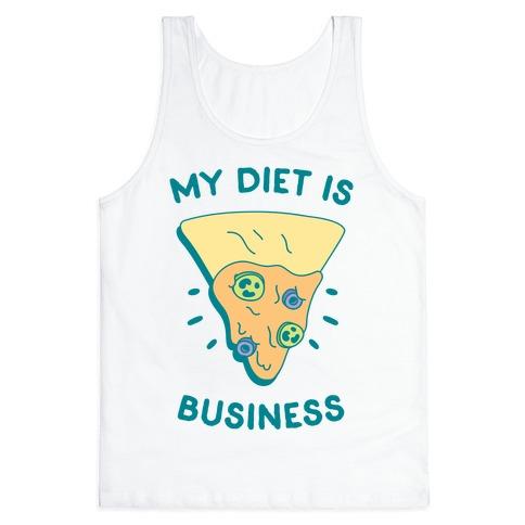 My Diet Is Nacho Business Tank Top