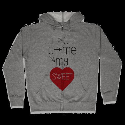 Sweet Heart Zip Hoodie