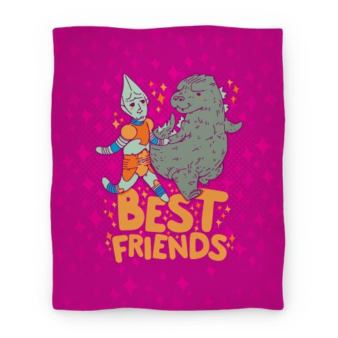 Best Friends Jet Jaguar & Godzilla Blanket