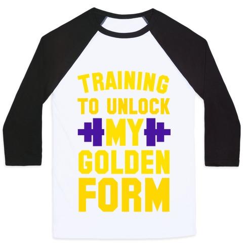 Training to Unlock My Golden Form Baseball Tee