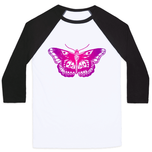 Harry's Butterfly Tattoo (Vintage Style) Baseball Tee