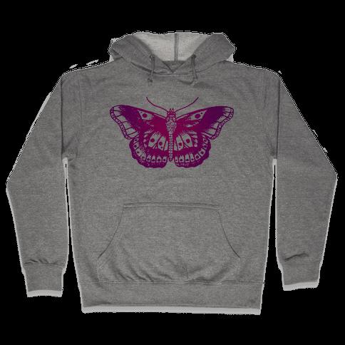 Harry's Butterfly Tattoo (Vintage Style) Hooded Sweatshirt