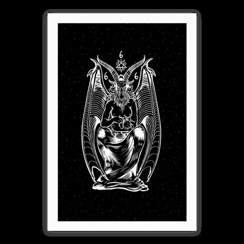 Pet Cats. Hail Satan. Baphomet. Poster
