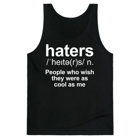 Haters Definition Tank Top