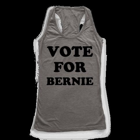 Vote For Bernie Racerback Tank Top