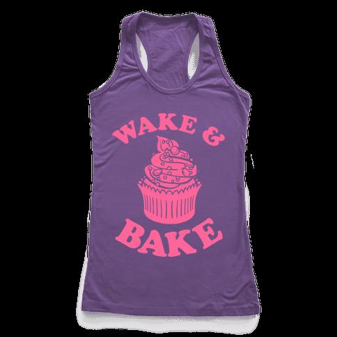 Wake and Bake Racerback Tank Top