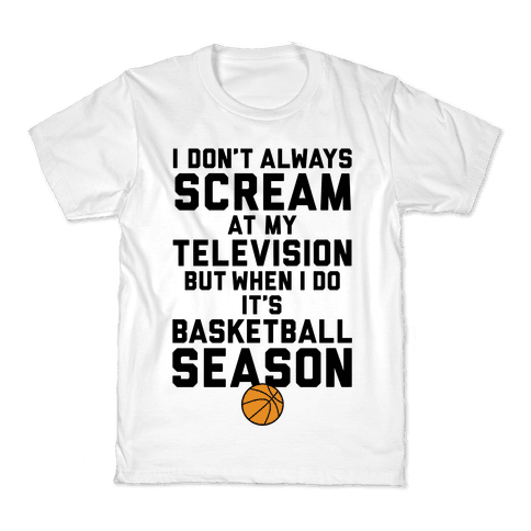 Basketball Season Kids T-Shirt