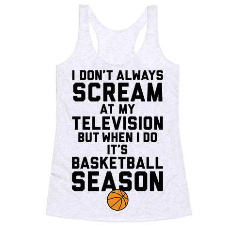 Basketball Season Racerback Tank Top