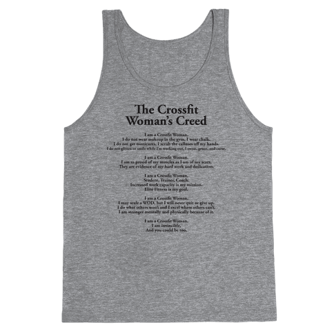 The Crossfit Woman's Creed (Tank) Tank Top