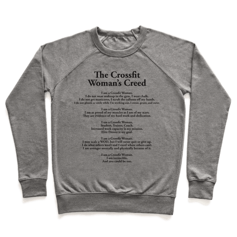 The Crossfit Woman's Creed (Tank) Pullover