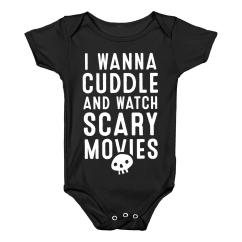 Cuddle and Watch Scary Movies Baby Onesy