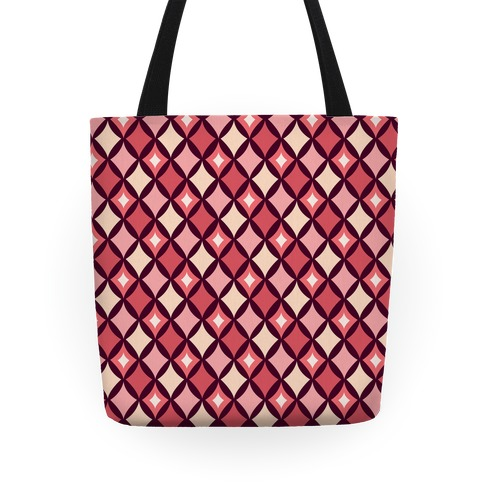Diamond Pattern Tote (Red) Tote