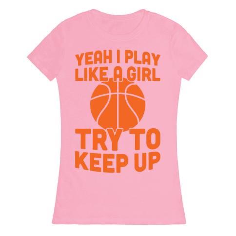 Yeah I Play Like A Girl Womens T-Shirt