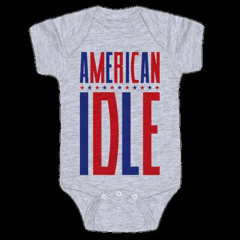 American Idle Baby Onesy