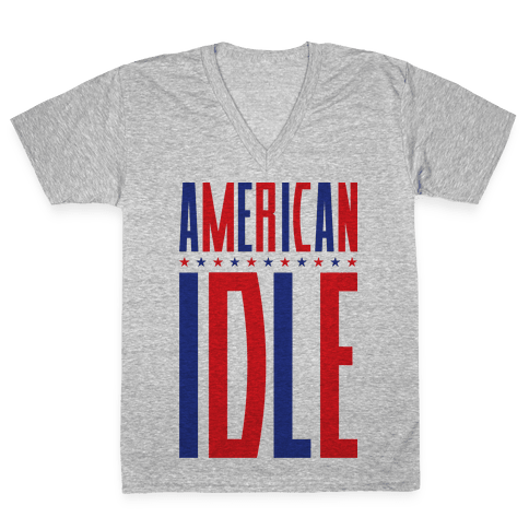 American Idle V-Neck Tee Shirt