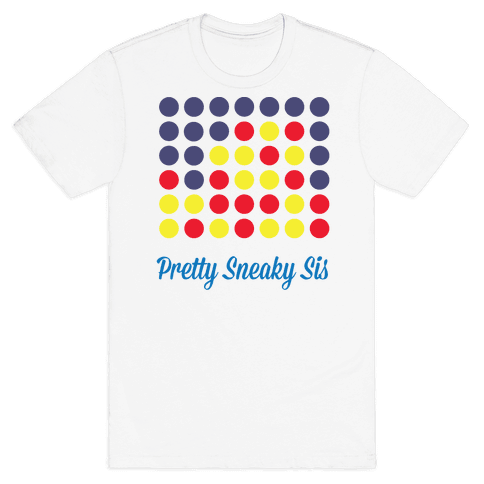 Pretty Sneaky Sis (White) Mens T-Shirt