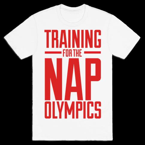 Training For The Nap Olympics Mens T-Shirt