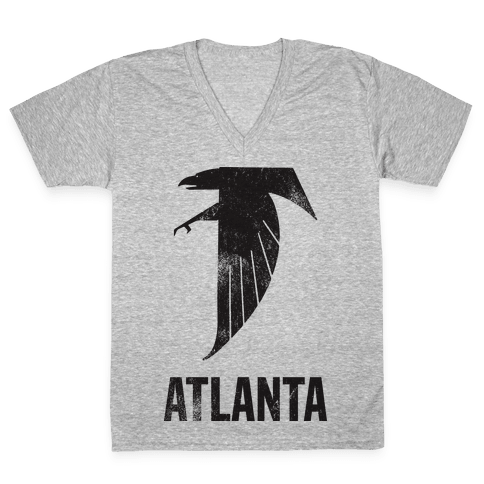 Atlanta (Vintage) V-Neck Tee Shirt
