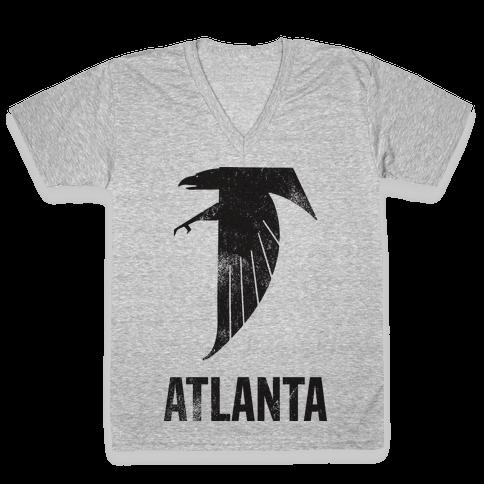 Atlanta (Vintage) V-Neck Tee Shirt