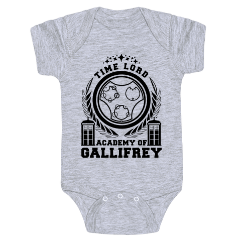 Time Lord Academy of Gallifrey Baby Onesy